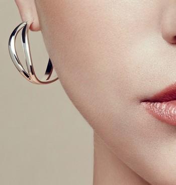 Boucles d'oreilles créoles petit modèle en Argent massif
