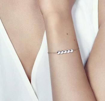 Bracelet chaîne en Argent massif