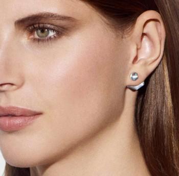 Boucles d'oreilles doubles en Argent massif