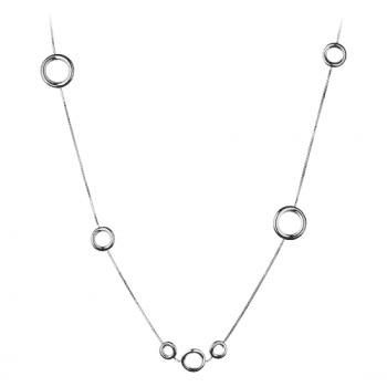 Christofle Sautoir multi-anneaux en Argent massif 06700201