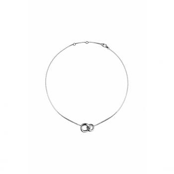 Christofle Collier 2 anneaux en Argent massif