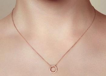 Pendentif en Or rose et diamants IDOLE DE CHRISTOFLE