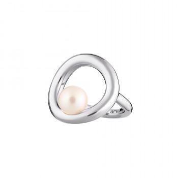 Bague anneau Perle et Argent massif