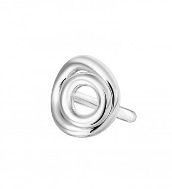 Bague double anneau en Argent massif