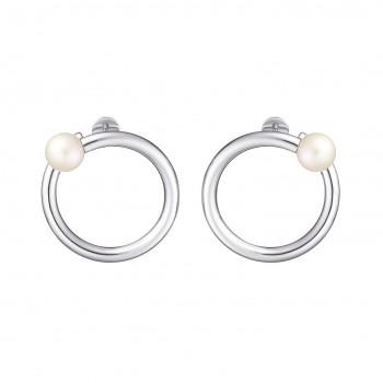 Boucles d'oreilles Perle et Argent massif